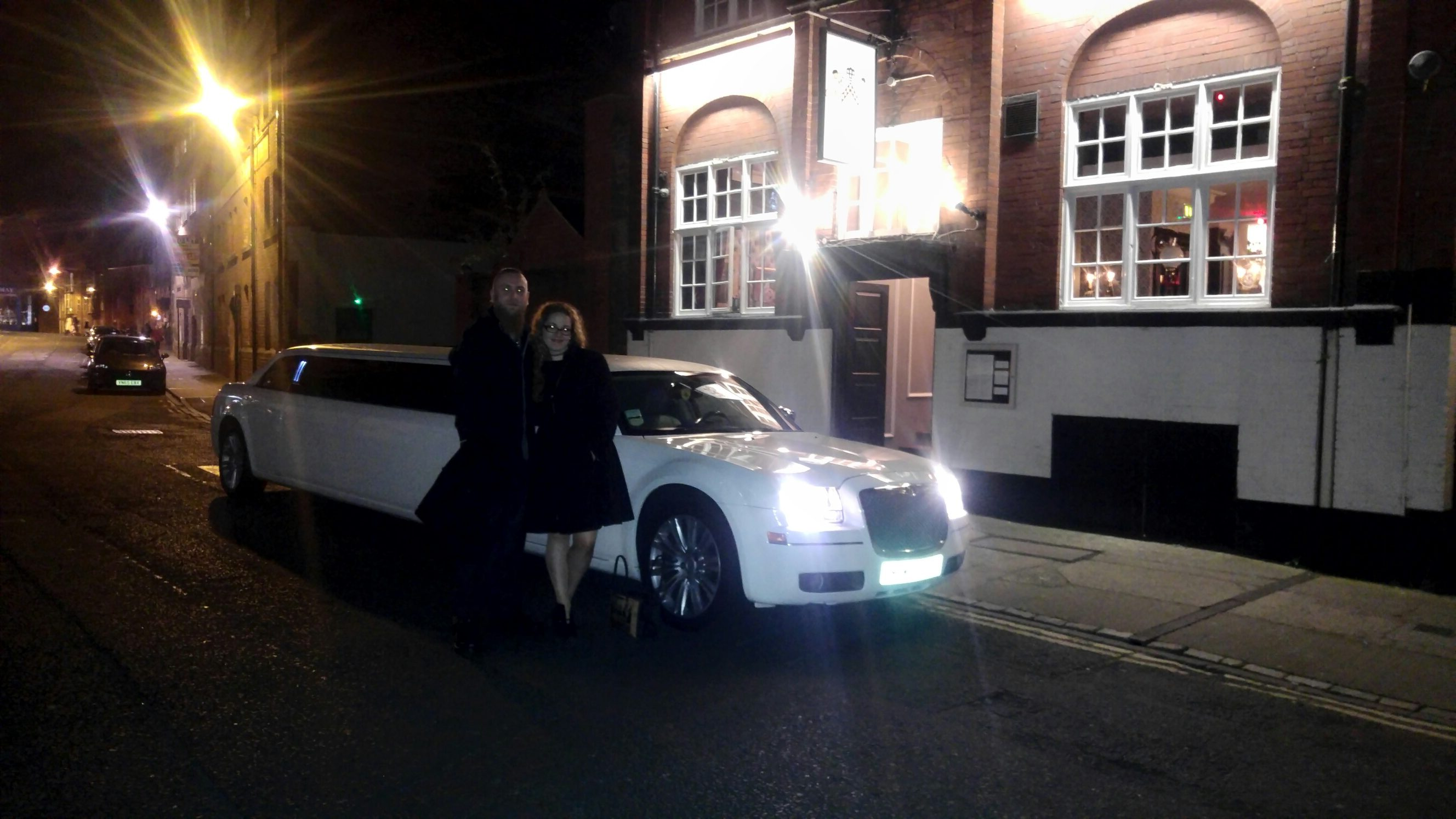 stretch limo at Christmas party in York