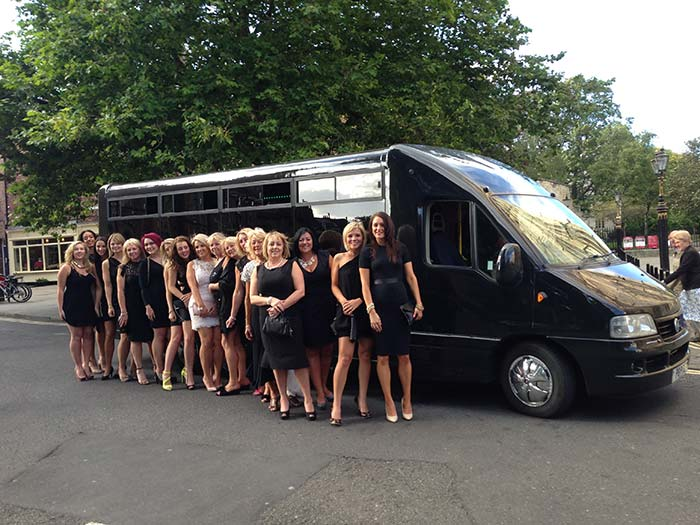Hen party with Limo Party Bus in Harrogate