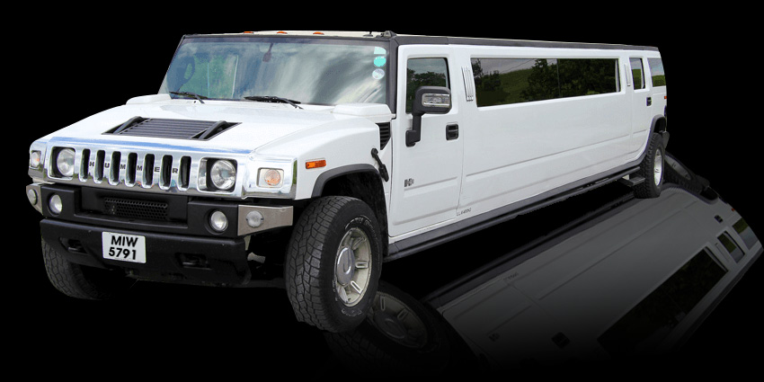 white hummer H2 stretched 16 seater