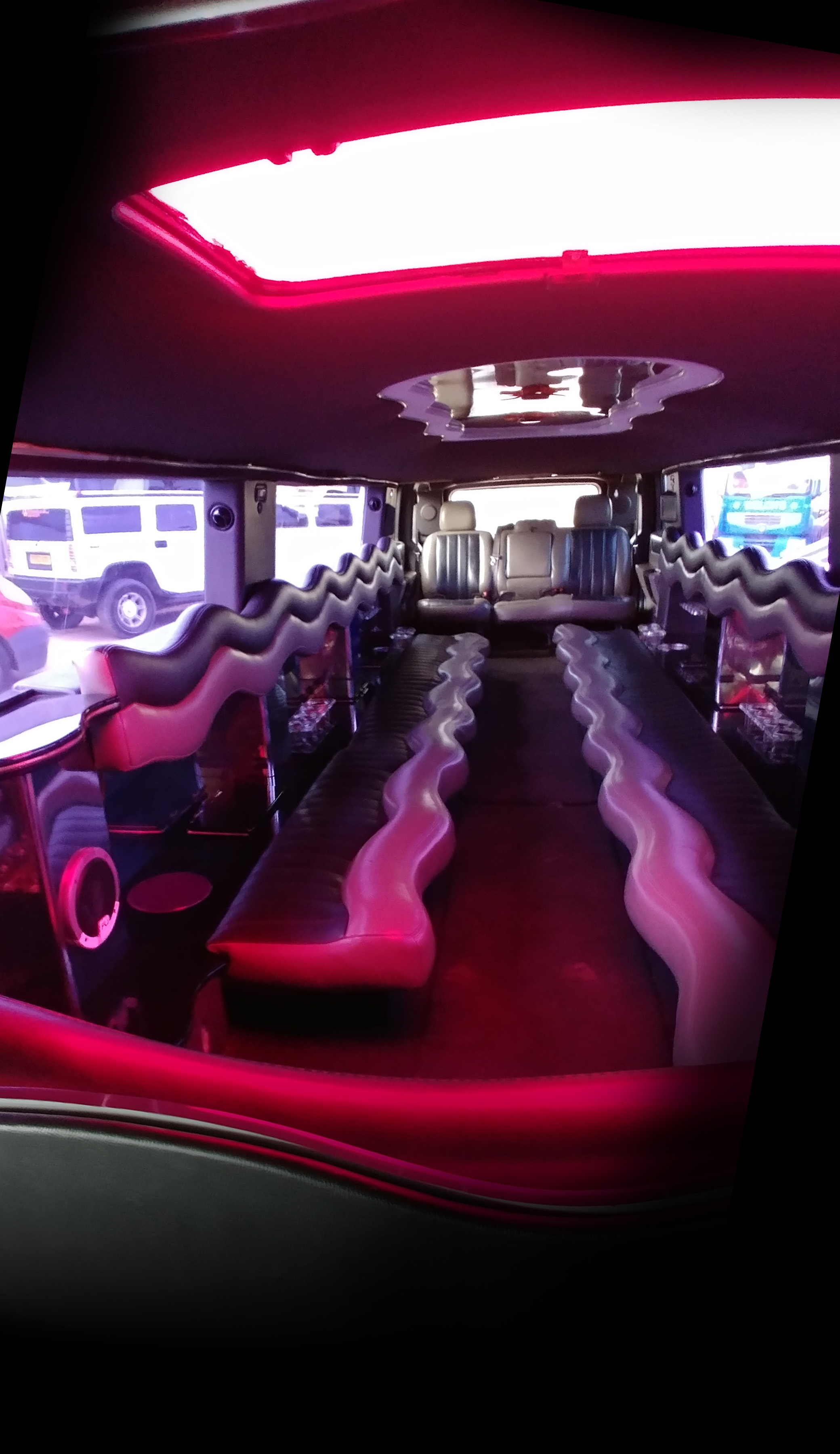 inside 16 seater hummer limousine Bridlington hire
