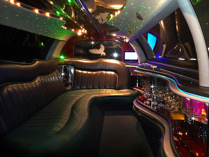 Inside lincoln wave prom limousine