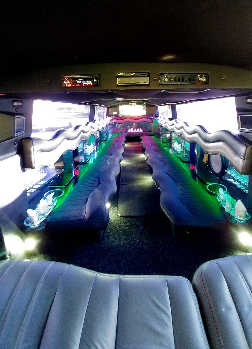 inside 16 seater hummer limousine